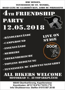 Flyer Friendship Party 2018